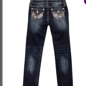 🌀Girl's Dark Blue Skinny Miss Me Jeans